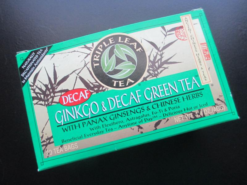 Triple Leaf Tea Ginkgo and Decaf Green Tea