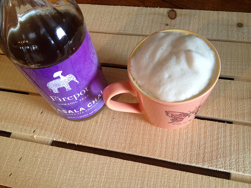 Firepot Masala Chai Tea Concentrate and Latte