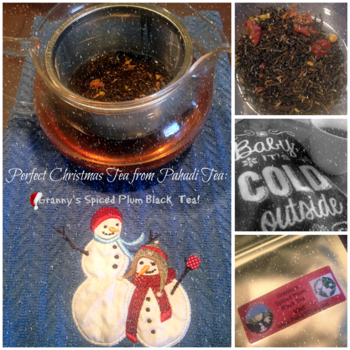 Perfect Christmas Tea from Pahadi Tea: Granny's Spiced Plum Black Tea!