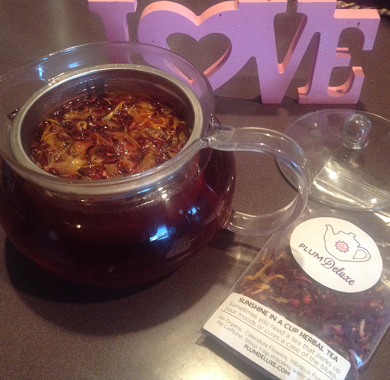Plum Deluxe Loose Leaf Tea - Sunshine in a Cup Herbal Tea