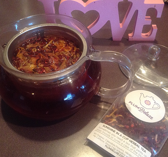 Review Plum Deluxe Sunshine In A Cup Herbal Tea Crazy