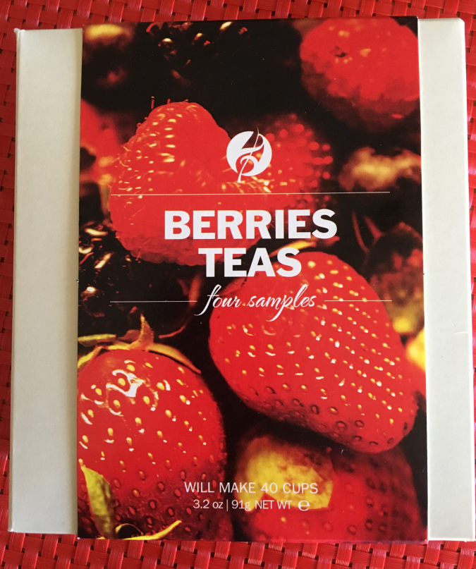 Berries Teas Sampler from Adagio Teas.