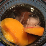 Frozen Peaches in Unsweet Tea